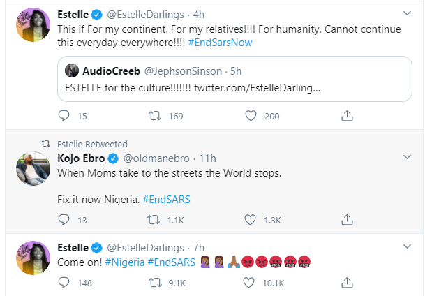 Trey Songz, Big Sean, Chance The Rapper, Estelle, Nasty C and other International celebrities react to the #EndSARS protest lindaikejisblog 3