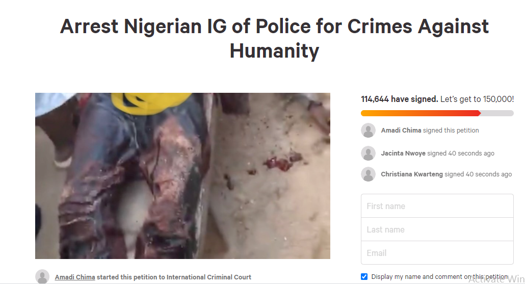 Over 100,000 sign petition asking ICC to prosecute IGP Adamu Mohammed over killings in #EndSARS protest lindaikejisblog 1
