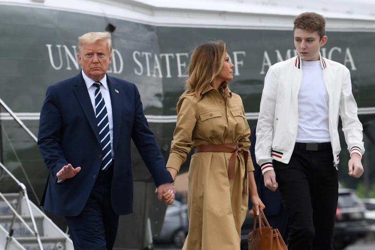 President Donald Trump's son, Barron tested positive for Coronavirus lindaikejisblog