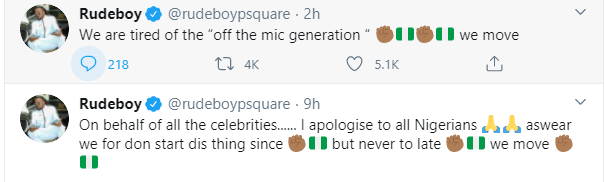 Celebrities should have started the #EndSARS protest a long time ago - Paul Okoye 'Rudeboy' apologizes lindaikejisblog 1
