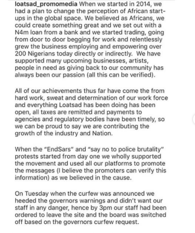 We have no control over the street lights or CCTV - Seyi Tinubu's media firm cry out after admitting turning off the billboard prior to Lekki toll gate shooting lindaikejisblog 1