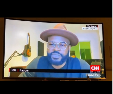 I'm not afraid for my life I could easily get killed by something else in Nigeria - Falz says in interview with CNN's Christiane Amanpour