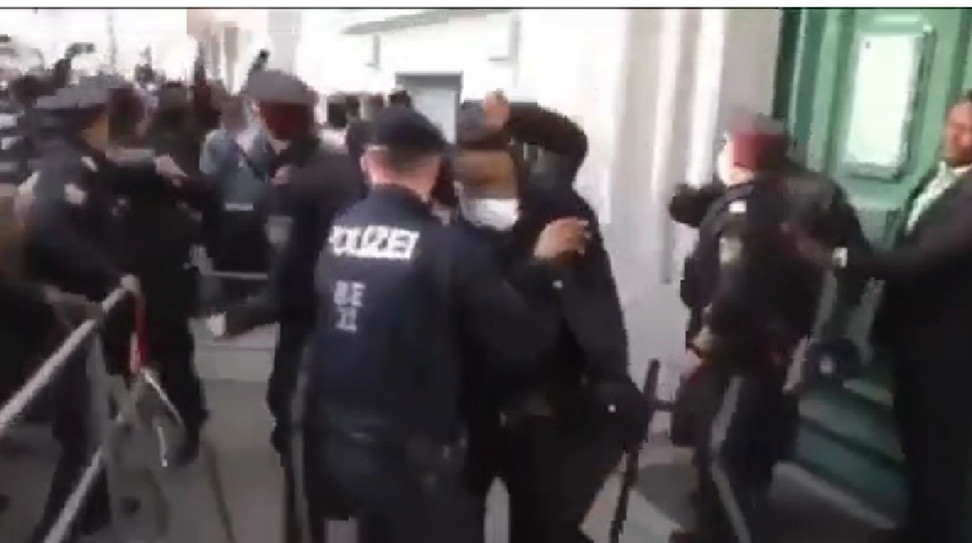 Police scramble to safeguard the Nigerian envoy to Austria as angry Nigerians attack him