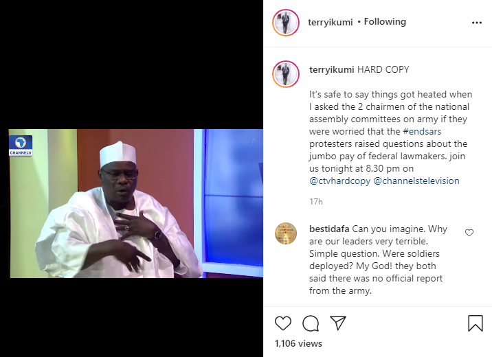 It depends - Chairman of House of Reps Committee on Army, Abdulrazak Namdas says when questioned on the salary federal lawmakers take home lindaikejisblog 1