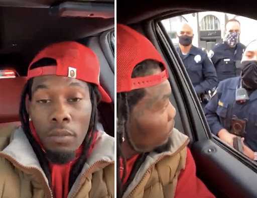 Offset detained in the middle of his Instagram live after run-in with Trump supporters lindaikejisblog
