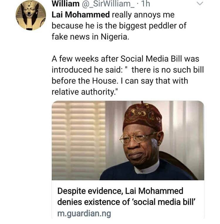 Nigerians react to Lai Mohammed's call for regulation of social media lindaikejisblog 6
