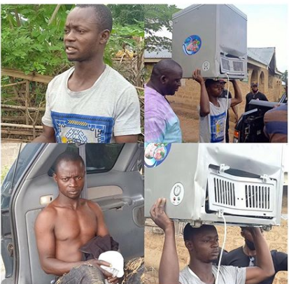 Looter's motorcycle stolen after he went to an Osun store to steal a freezer lindaikejisblog