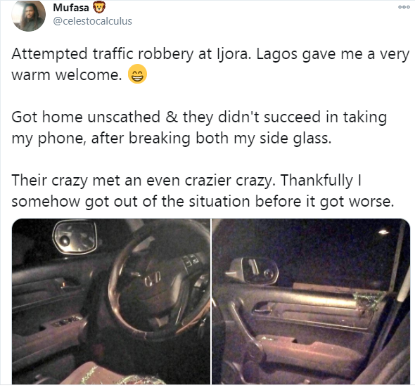 Twitter user narrates how he was almost robbed by traffic robbers lindaikejisblog 1