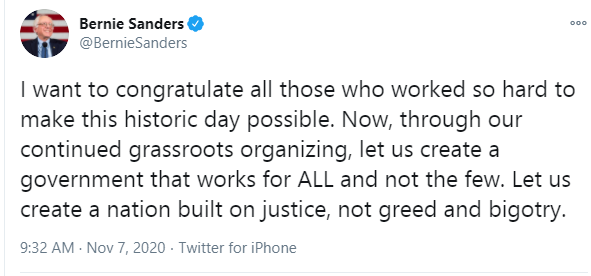 Whether Trump concedes or not it is not relevant, Biden has won the election and is going to be inaugurated - Bernie Sanders lindaikejisblog 1