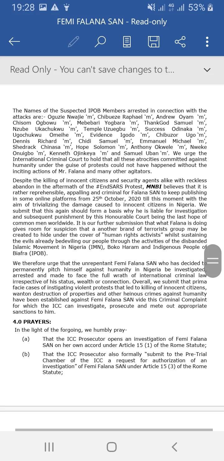 Femi Falana dragged to ICC lindaikejisblog 3