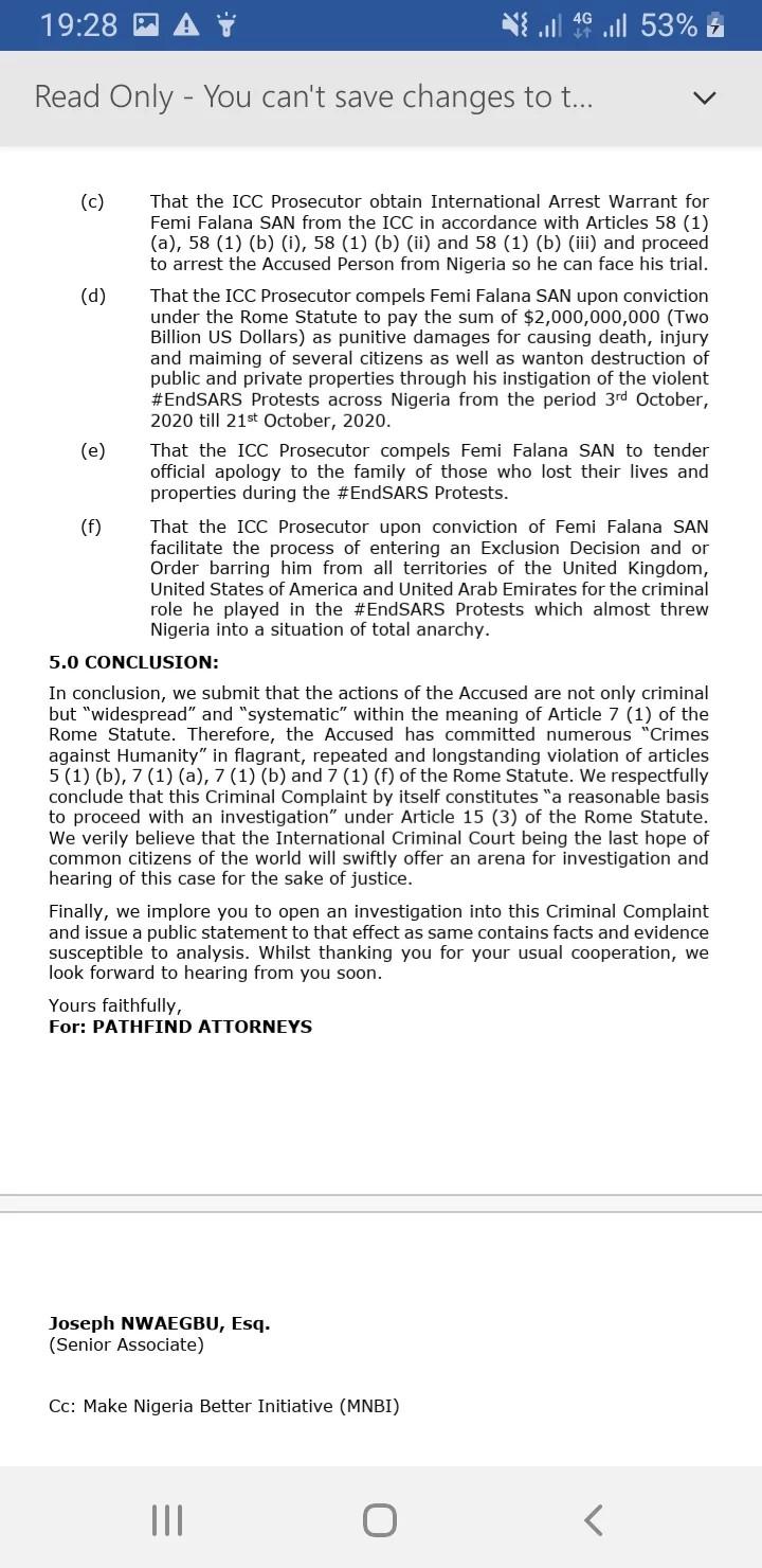 Femi Falana dragged to ICC lindaikejisblog 4