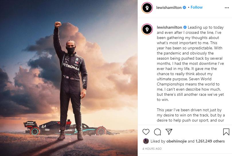 Lewis Hamilton makes history as he wins his seventh Formula 1 title lindaikejisblog 1
