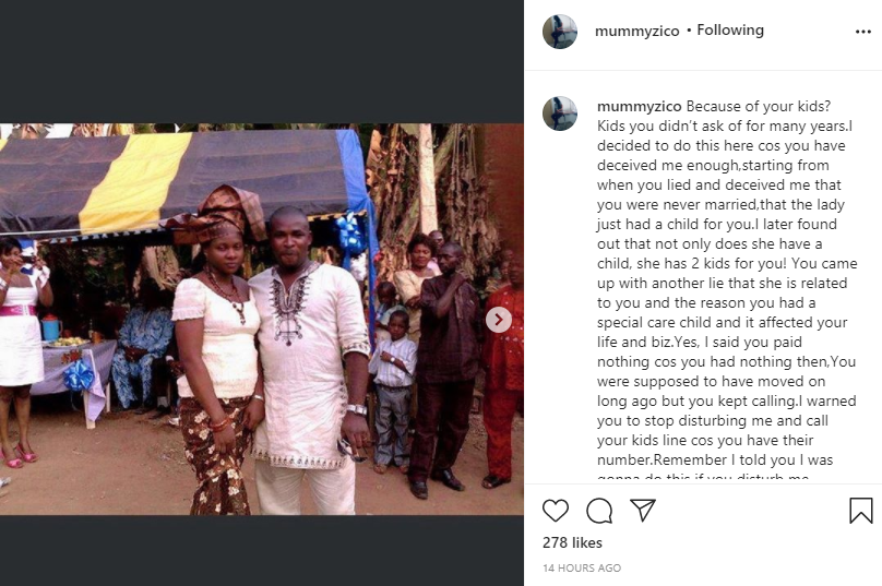 Actress Eve Esin and movie producer fiance react after being called out by ex-wife for allegedly destroying her home and seizing her kids lindaikejisblog 4