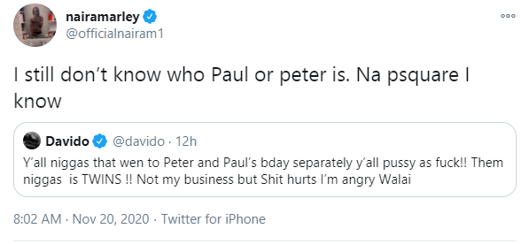 I still dont know who Paul or Peter is - Naira Marley wades into the Psquare feud lindaikejisblog 1