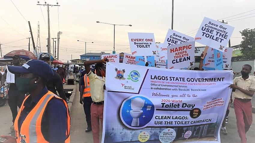 Harpic champions end to open defecation, donates 47 public toilet units in Lagos lindaikejisblog4