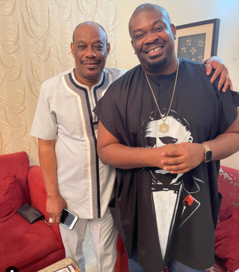 Don Jazzy shares a photo with his father lindaikejisblog