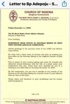 Anglican bishop suspended for allegedly having sex with wife of another priest lindaikejisblog 1