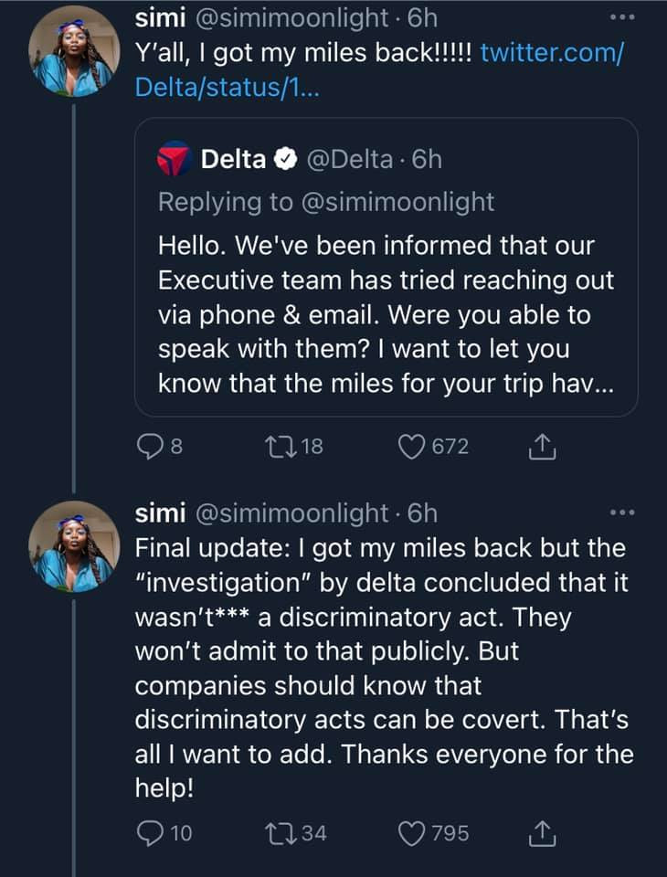 Black woman calls out Delta airline after being kicked her out her first class seat because the check-in attendant didn't believe she bought first class lindaikejisblog 8