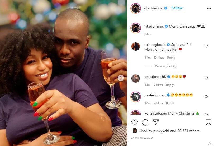 Rita Dominic shows off her partner in Christmas photos lindaikejisblog 1