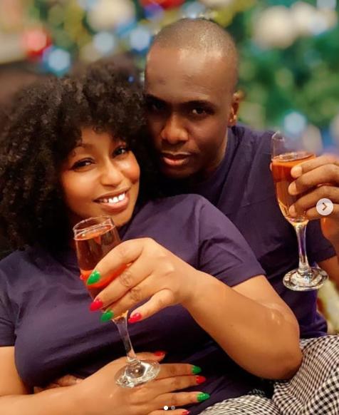 Rita Dominic shows off her man, Daily Times Publisher Fidelis Anosike lindaikejisblog