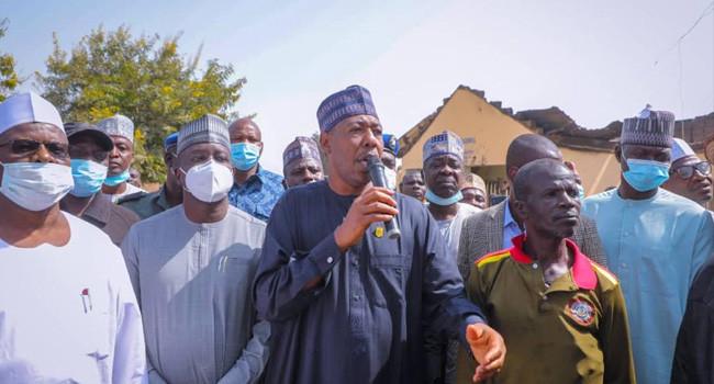 Governor Zulum visits villages attacked by Boko Haram last weekend lindaikejisblog
