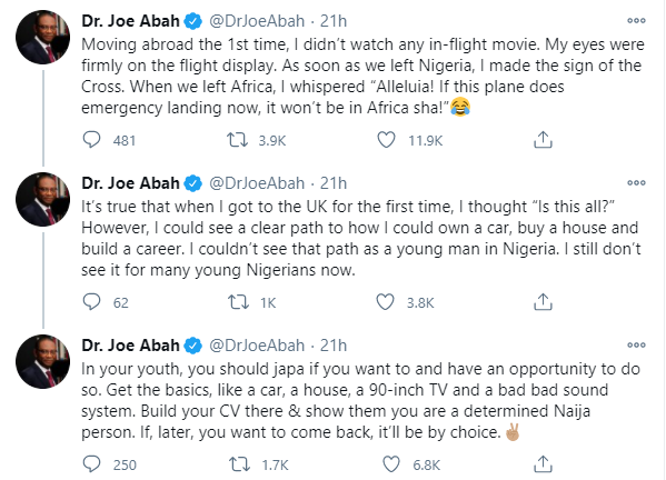 If you have opportunity to leave Nigeria in your youth, do so - Former DG of Bureau of Public Sector Reform, Joe Abah lindaikejisblog 1
