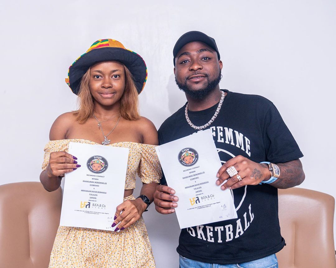 Davido's newly signed artiste and DMW First lady, Liya among those arrested at Lagos club
