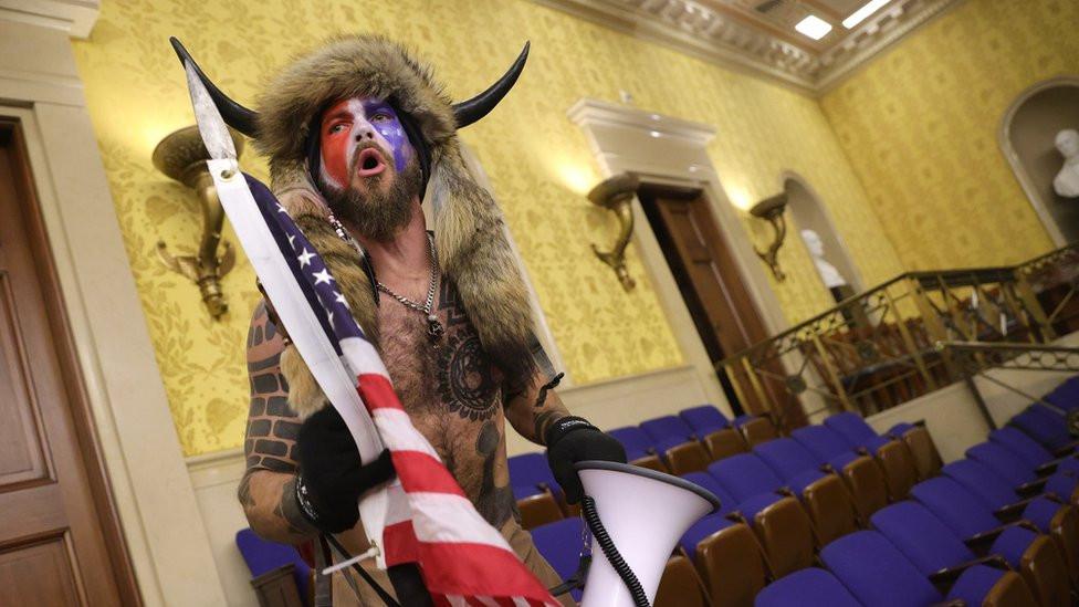 Shirtless man in face paint and horn arrested lindaikejisblog