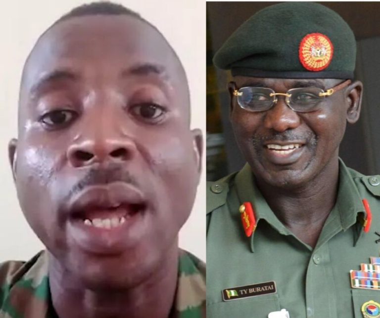 Soldier arrested for criticizing COAS Tukur Buratai has been granted bail after 7 months