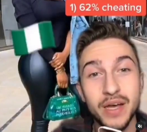 Tik Tok user claims Nigerian married women are the highest cheaters in the world at 62% (video)