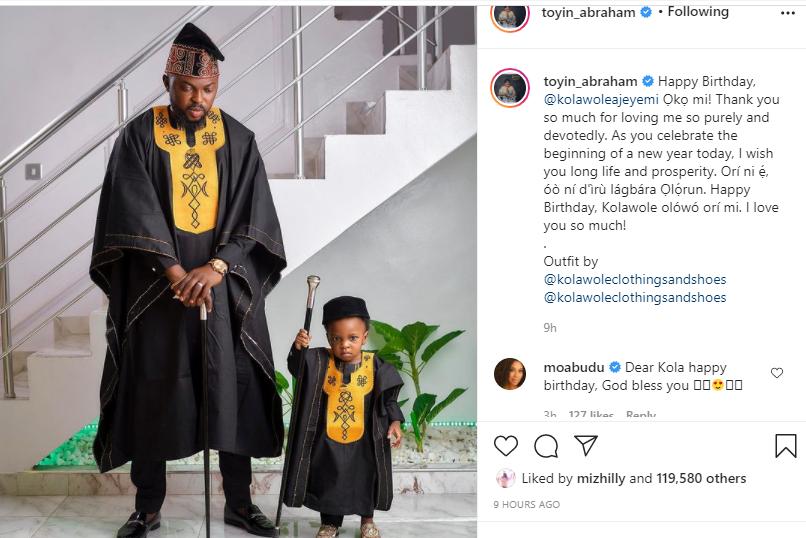 Thank you so much for loving me so purely and devotedly - Toyin Abraham celebrates husband, Kolawole on his birthday lindaikejisblog