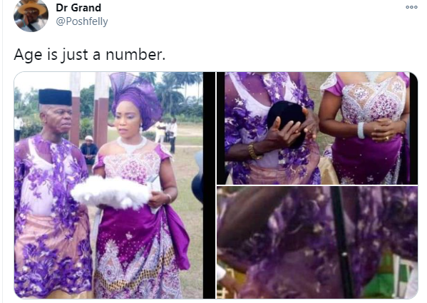 Pregnant Nigerian lady allegedly marries an old man after man who got her pregnant absconded lindaikejisblog 1