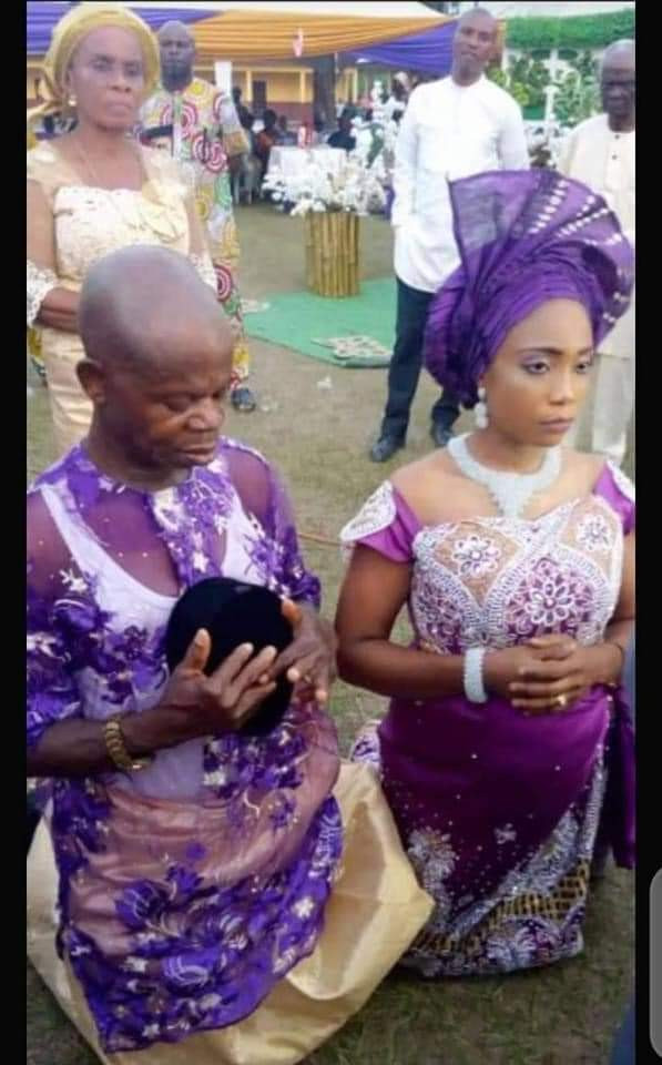 Pregnant Nigerian lady allegedly marries an old man after man who got her pregnant absconded lindaikejisblog 3