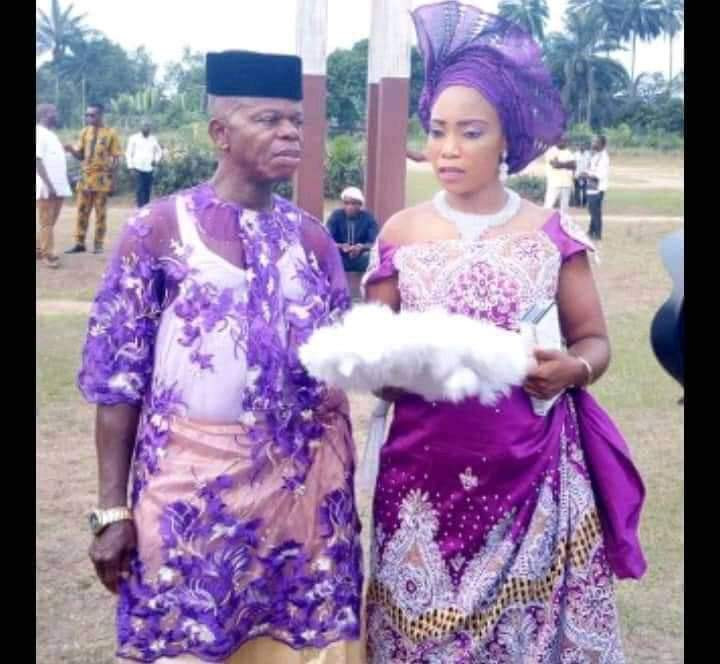 Pregnant Nigerian lady allegedly marries an old man after man who got her pregnant absconded lindaikejisblog