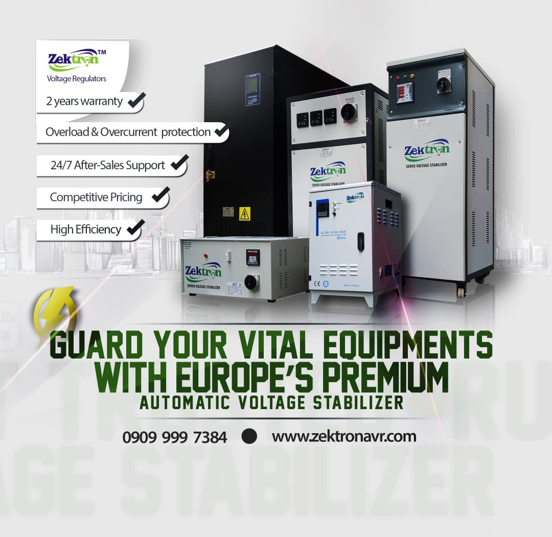 Guard Your Industrial, Office and Home electrical Appliances against Voltage Fluctuation with Zektron Servo Voltage Stabilizers lindaikejisblog