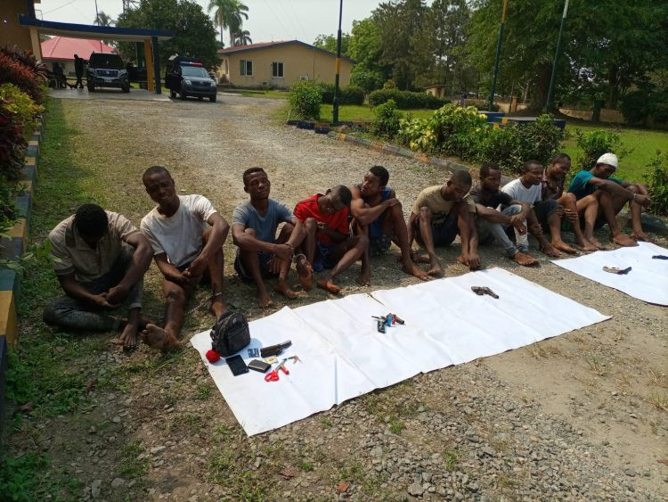 Cross Rivers Police parade ten criminal suspects