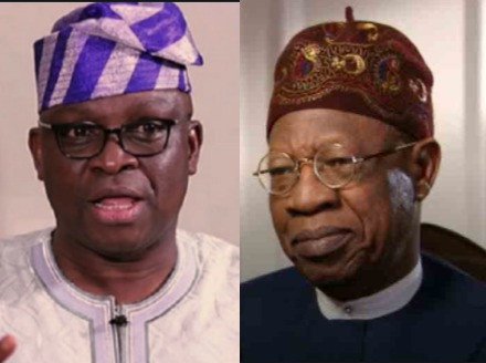 """""""At 69 years, it is a shame that hevomits evil words through his septic-tank-like-mouth"""" - Fayose slams Lai Mohammed for saying security is better than it was in 2015"""