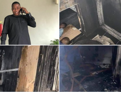 Yoruba activist Sunday Igboho's house razed in Ibadan (photos)