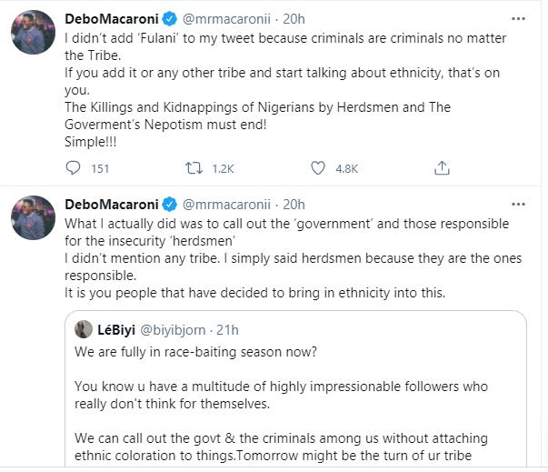 Government of the herdsmen by the herdsmen and for the herdsmen, Buhari should be President for all - Mr Macaroni lindaikejisblog 3