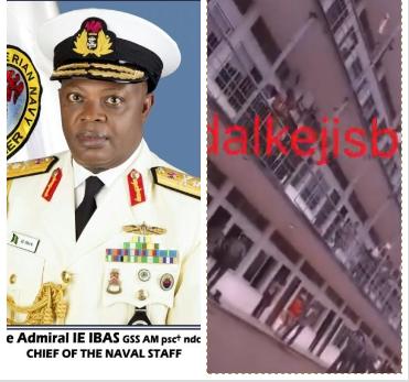 Naval officers celebrate sack of Chief of Naval Staff, Ibok Ekwe Ibas (video)