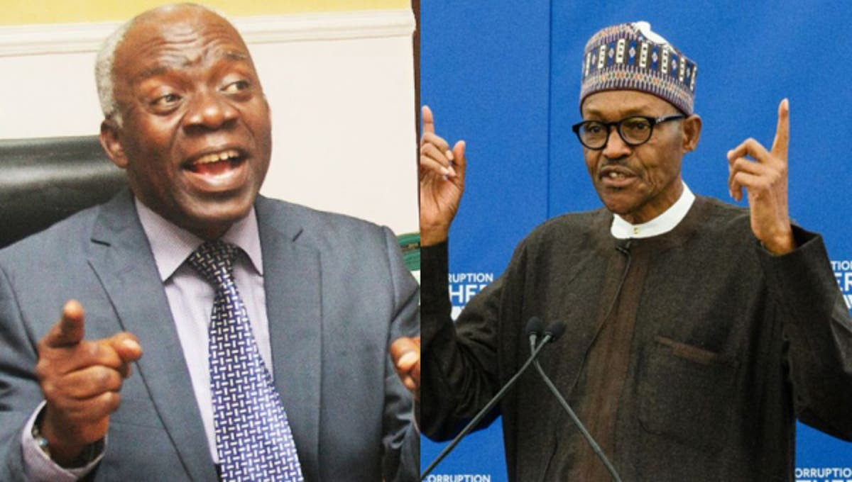 Appointments of service chiefs is inchoate because President Buhari has not forwarded their names to the national assembly - Falana