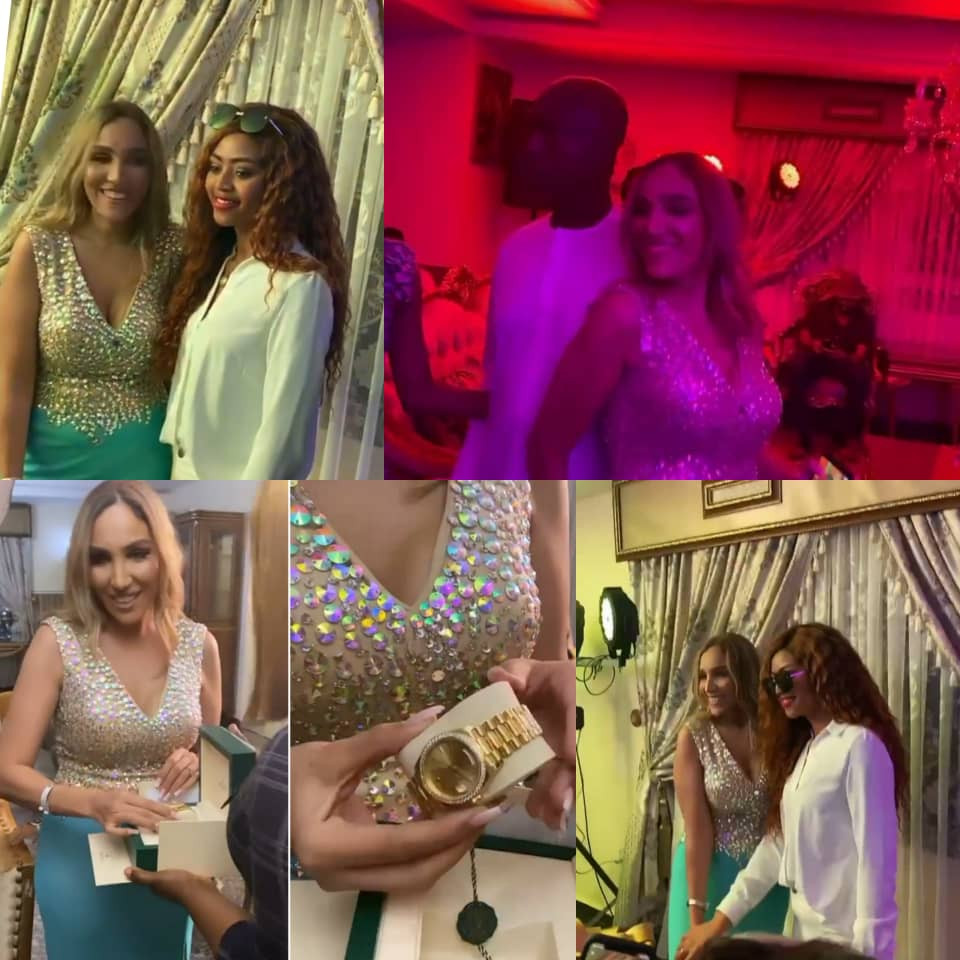 Photos/Videos from the 30th birthday celebration of billionaire businessman Ned Nwoko's Moroccan wife, Laila