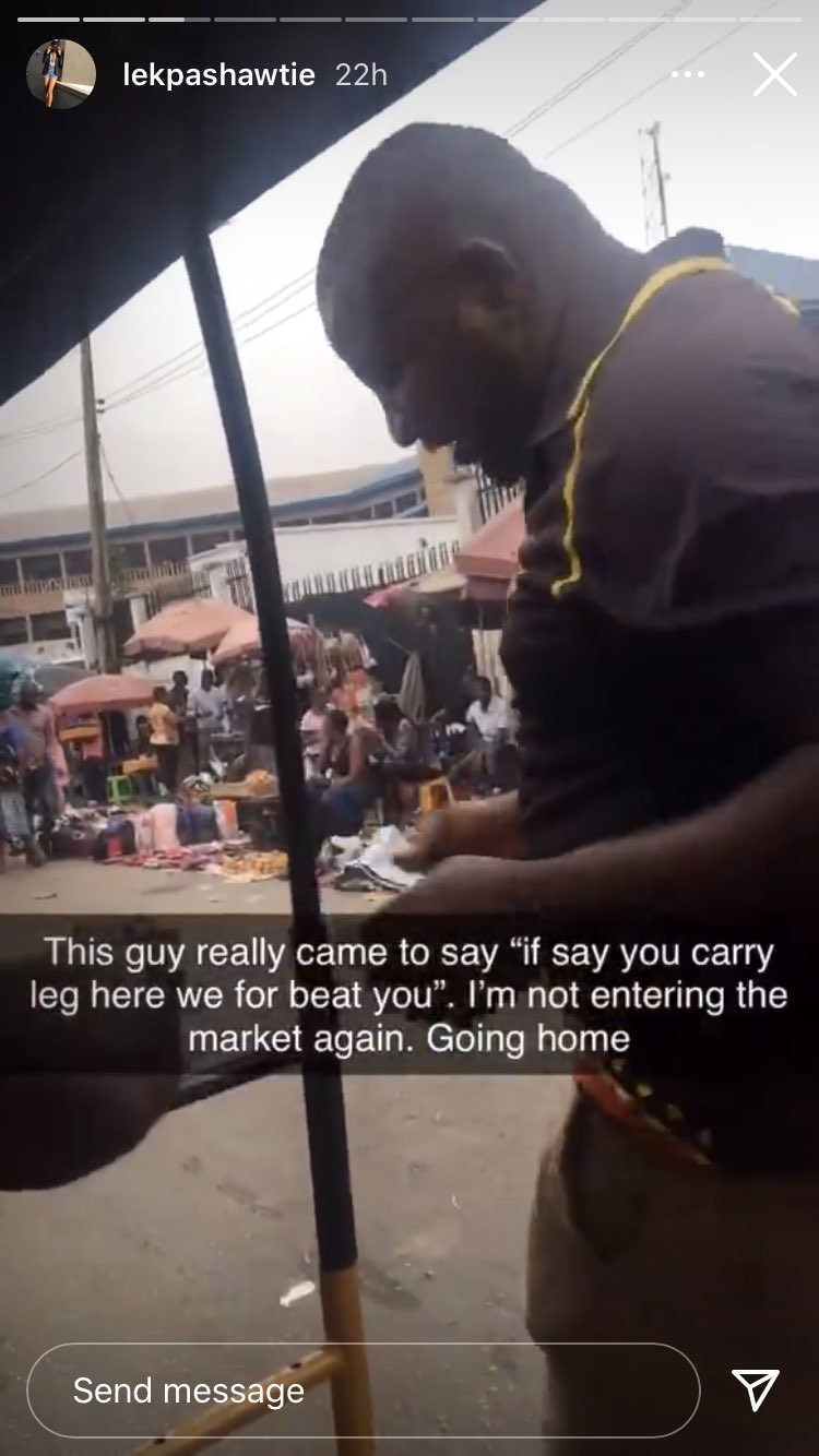 Nigerian lady narrates how she confronted some men who sexually harassed her for wearing a bum short while passing through a market 2