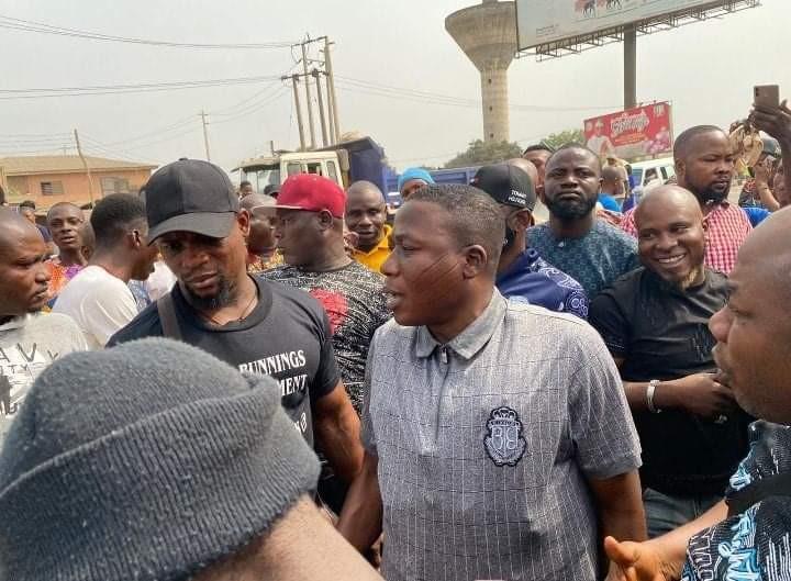 Sunday Igboho arrives Ogun state, declares war on killer herdsmen