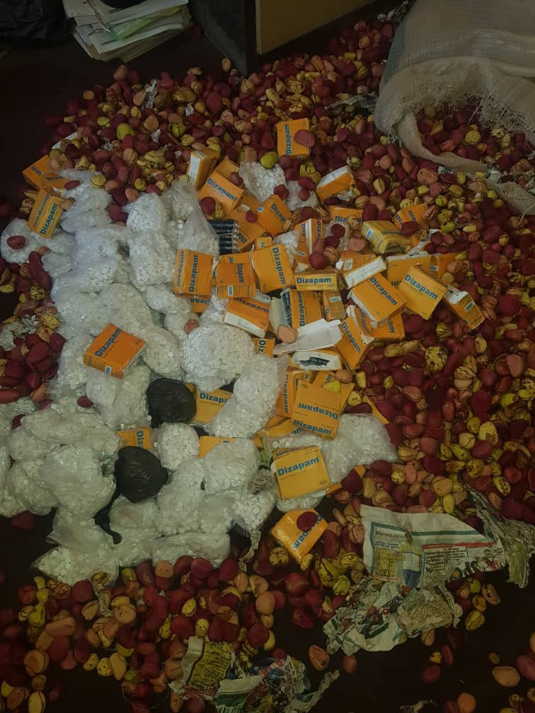 NDLEA intercepts large quantity of EXCOL and Diazepam drugs concealed inside sacks of Kola nut