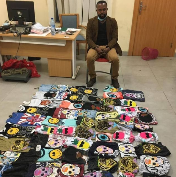 Nigerian drug trafficker who hides cocaine in t-shirt arrested by NDLEA