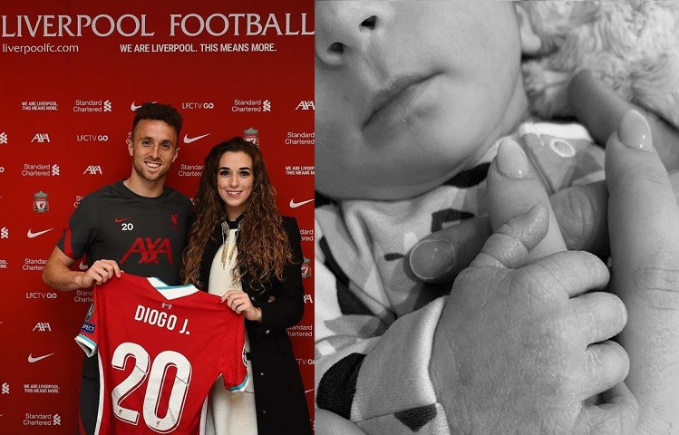 Liverpool striker, Diogo Jota and partner Rute Cardoso welcome their first child, a baby boy