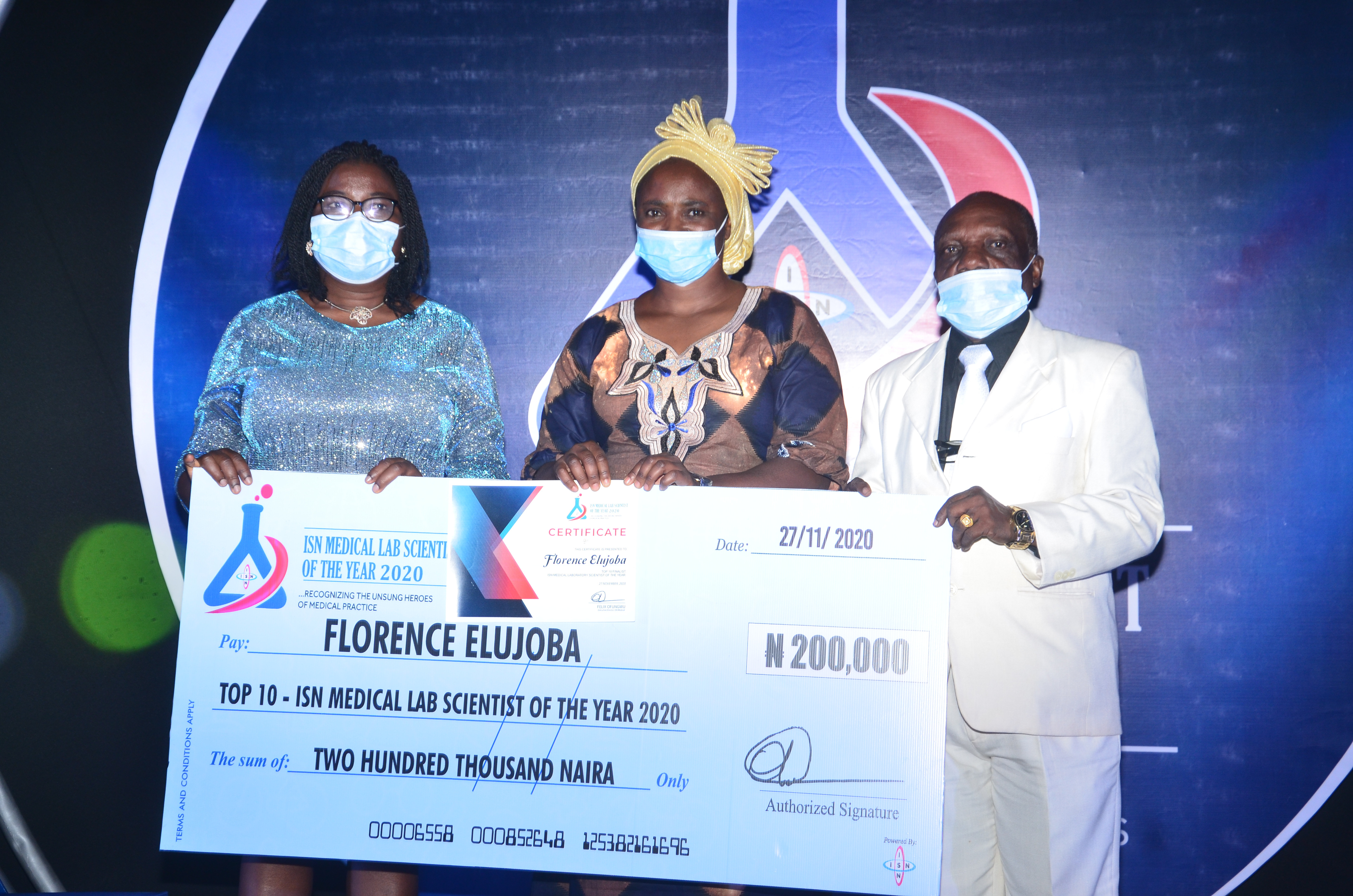 ISN Award as Morale Booster for Medical Laboratory Scientists
