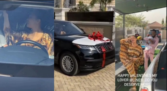 D'Banj gifts wife Range Rover Velar on Valentine's day