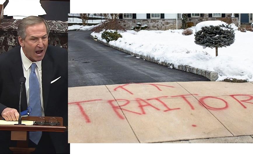 Trump's lawyer Michael van der Veen's home vandalized (photos)